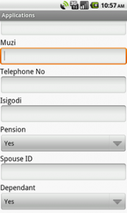 Subsidy Admin Application Capture on Android Tablet
